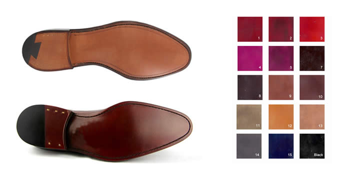 Leather sole colours